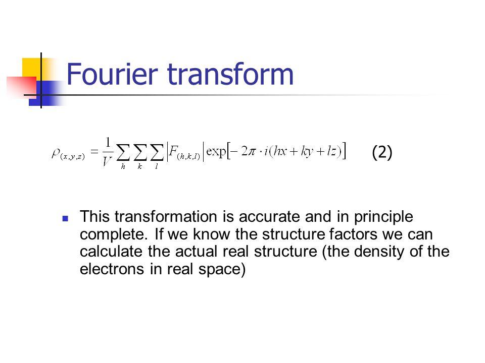 Fourier transform (2)