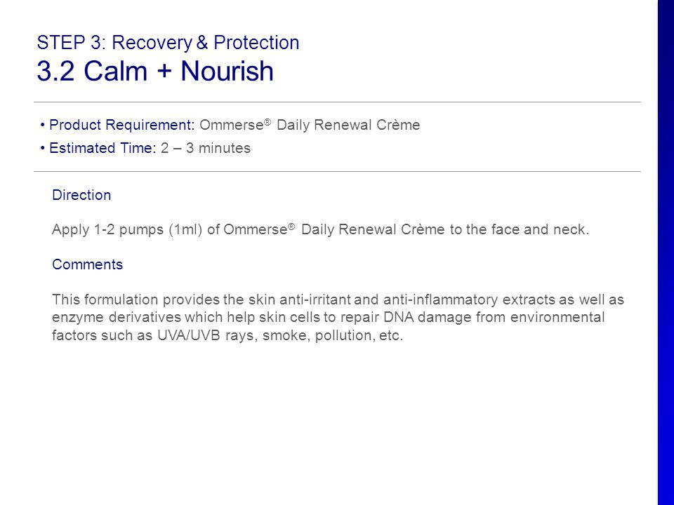 3.2 Calm + Nourish STEP 3: Recovery & Protection