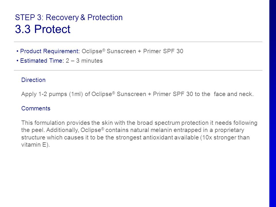 3.3 Protect STEP 3: Recovery & Protection