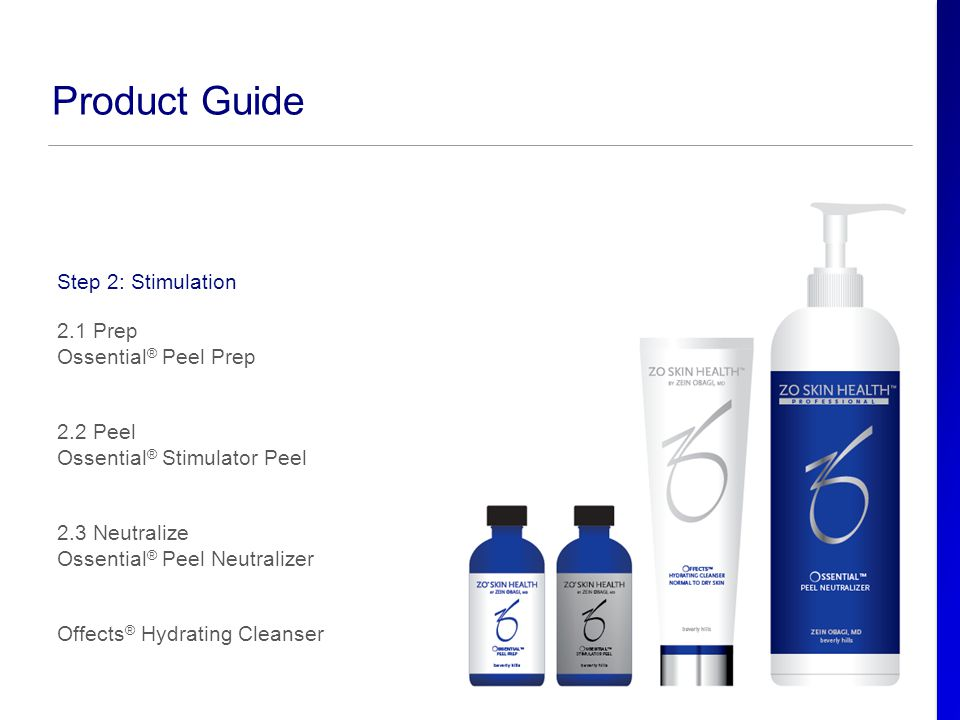 Product Guide Step 2: Stimulation 2.1 Prep Ossential® Peel Prep