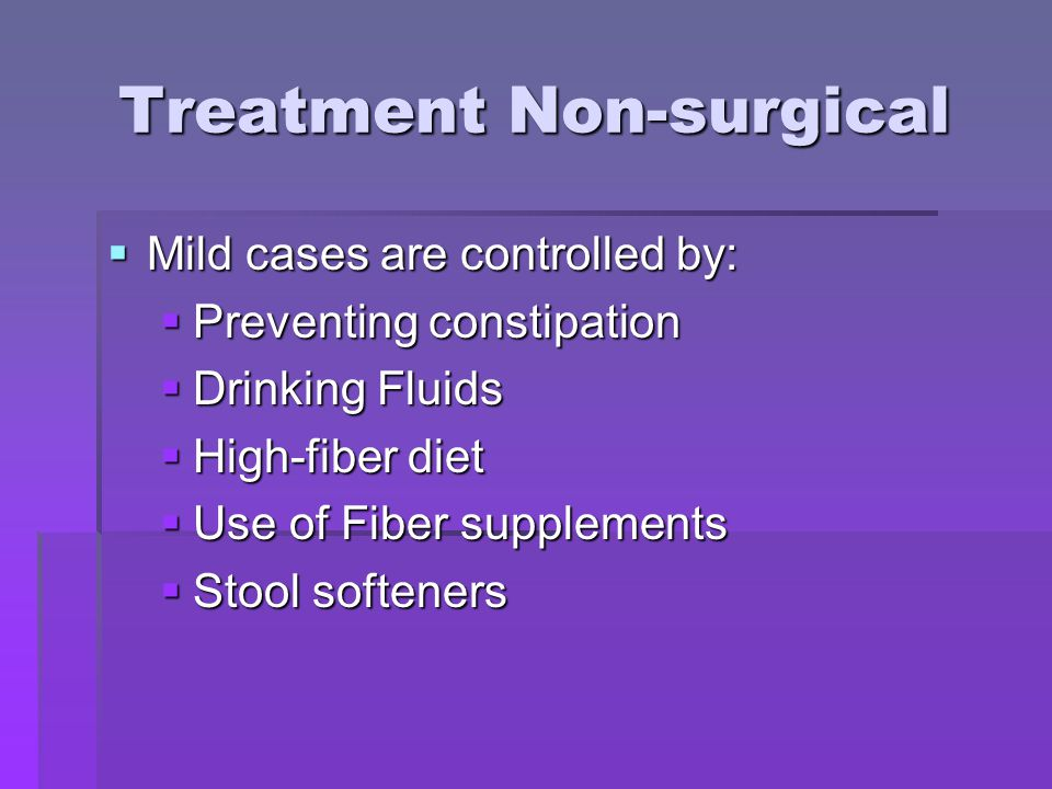 Treatment Non-surgical