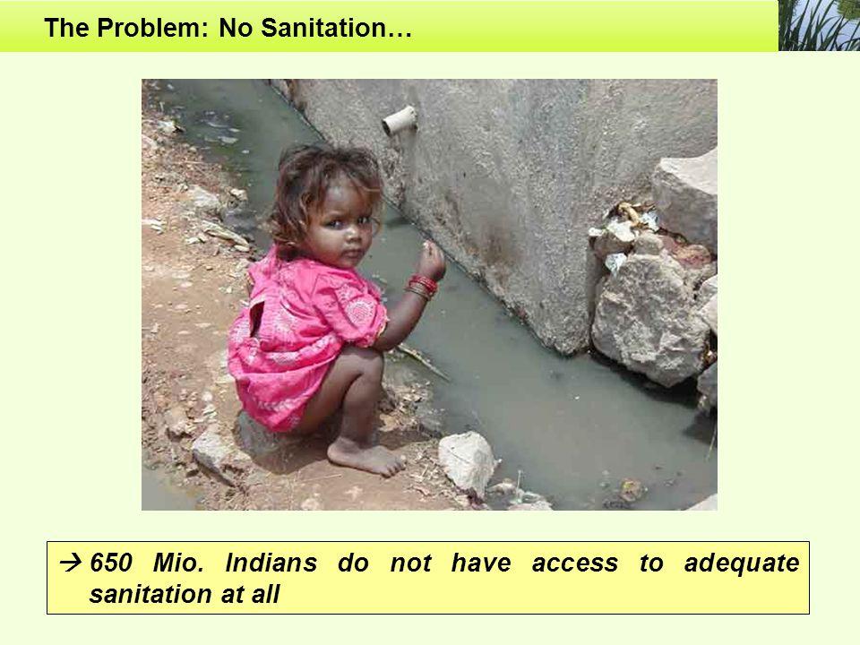 The Problem: No Sanitation…