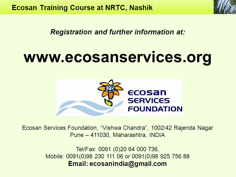 Ecosan Training Course at NRTC, Nashik