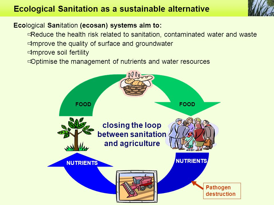 between sanitation and agriculture