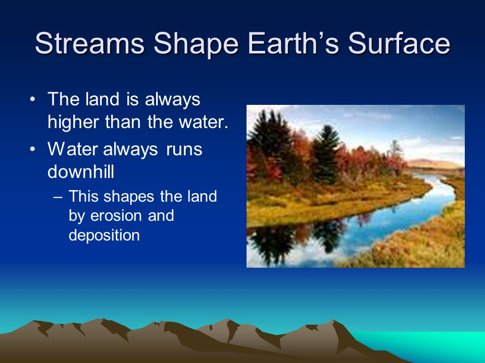 Streams Shape Earth's Surface