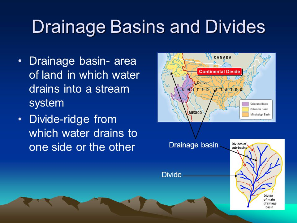 Drainage Basins and Divides