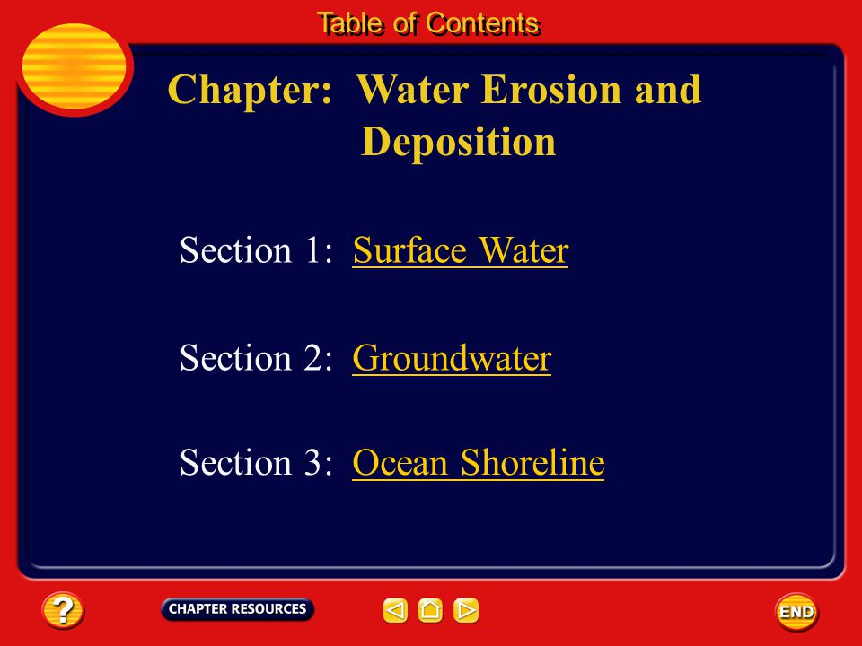 Chapter: Water Erosion and Deposition