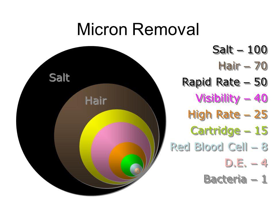 Micron Removal Salt – 100 Hair – 70 Salt Rapid Rate – 50