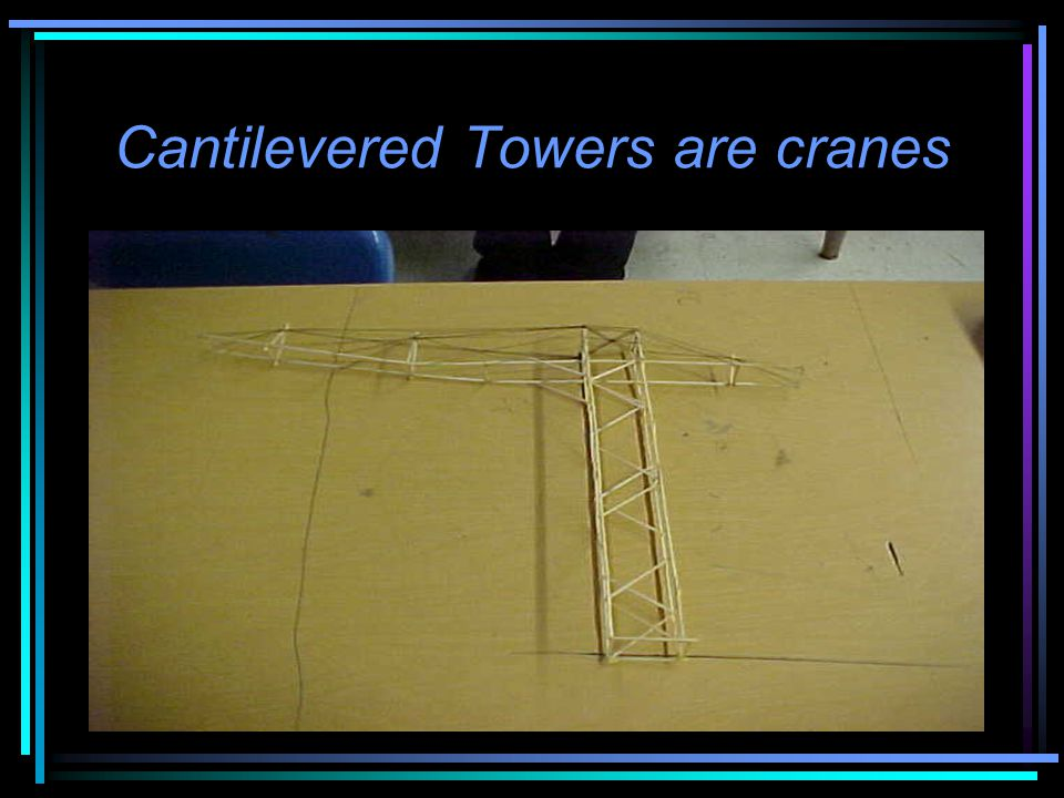 Cantilevered Towers are cranes