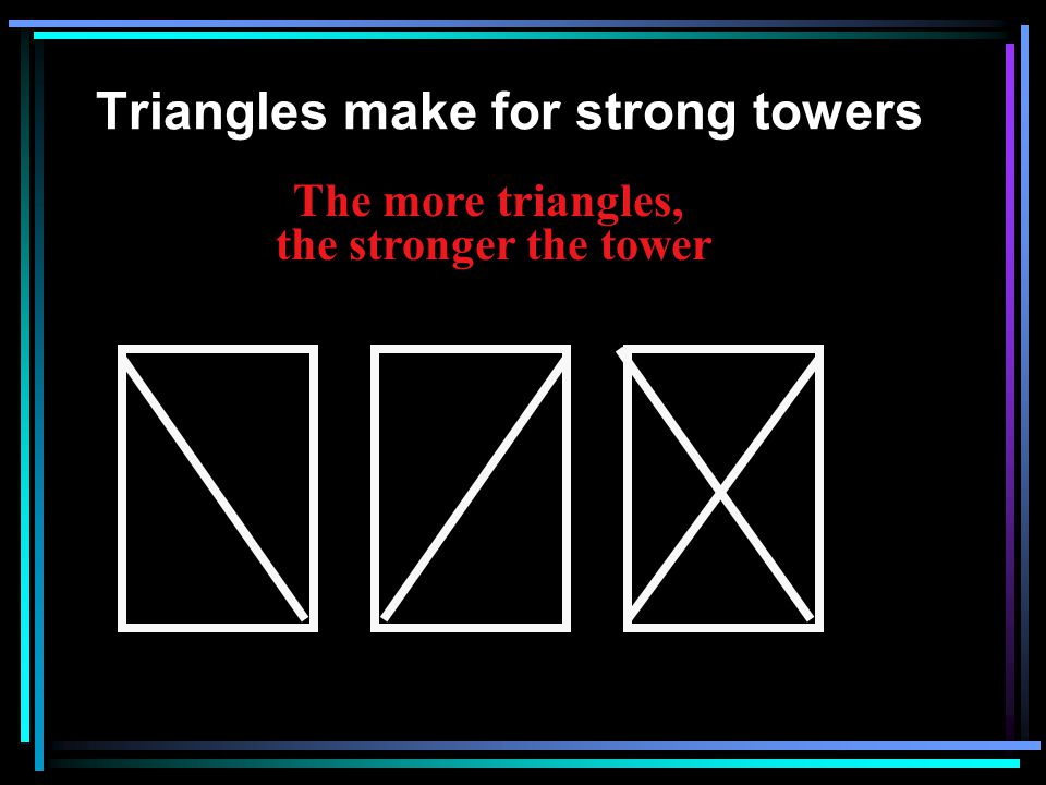 Triangles make for strong towers