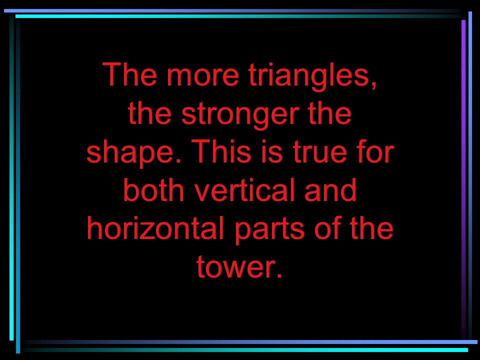 The more triangles, the stronger the shape