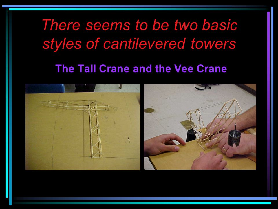 There seems to be two basic styles of cantilevered towers