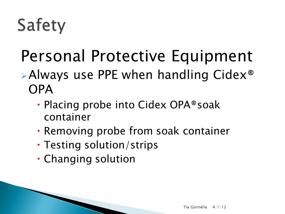 Safety Personal Protective Equipment