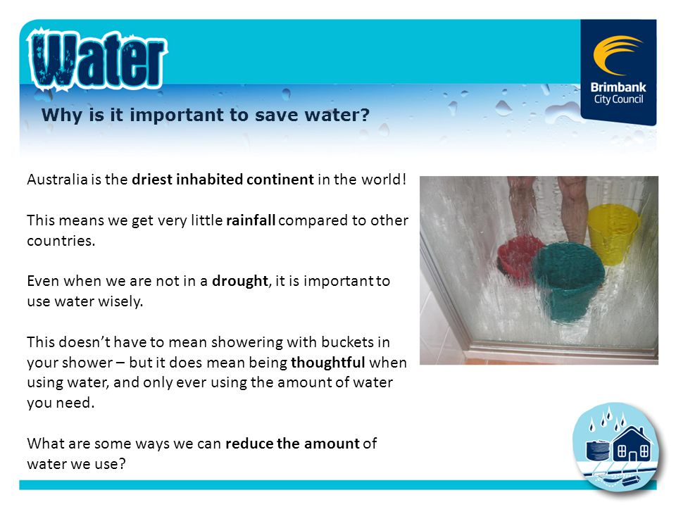 Why is it important to save water