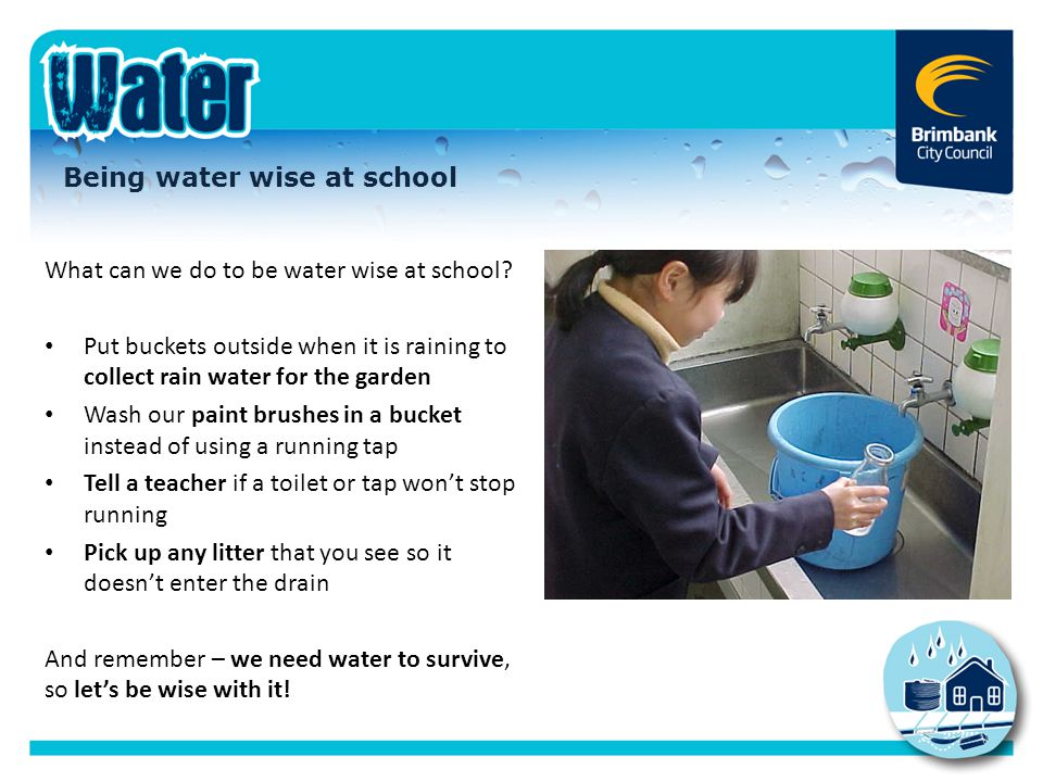 Being water wise at school