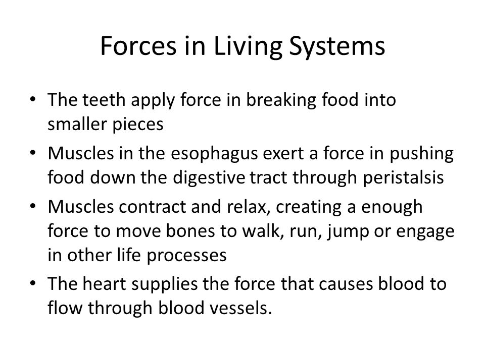 Forces in Living Systems