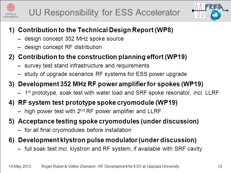 UU Responsibility for ESS Accelerator