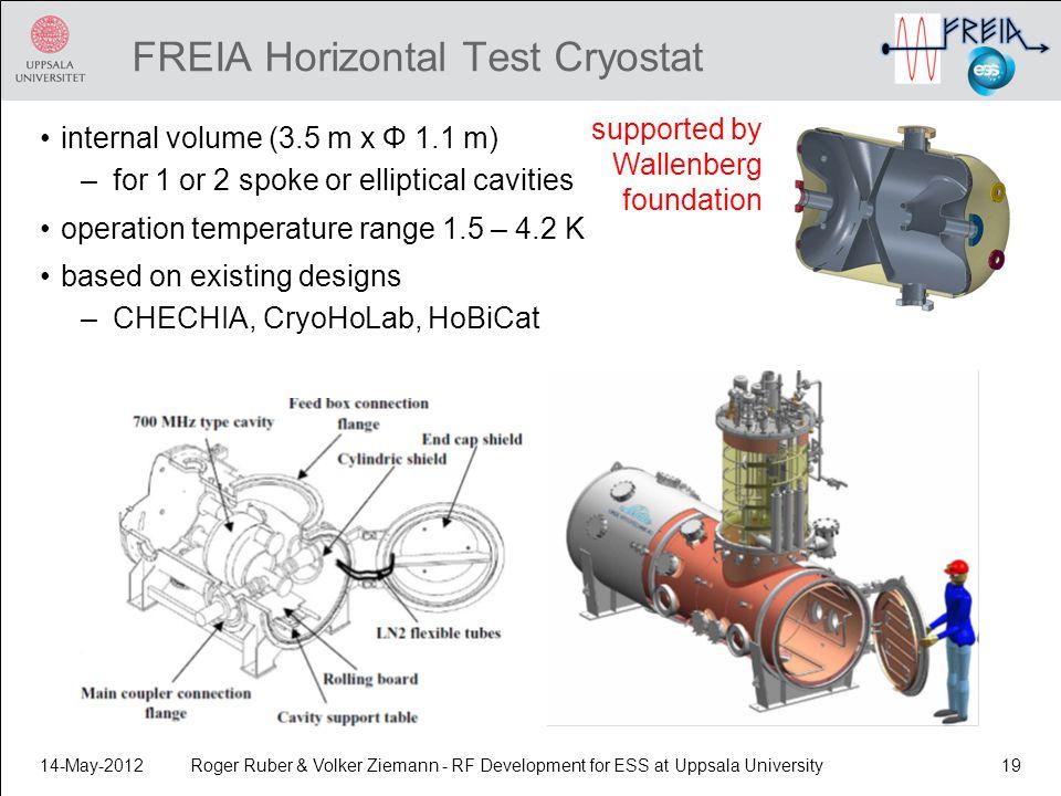 FREIA Horizontal Test Cryostat