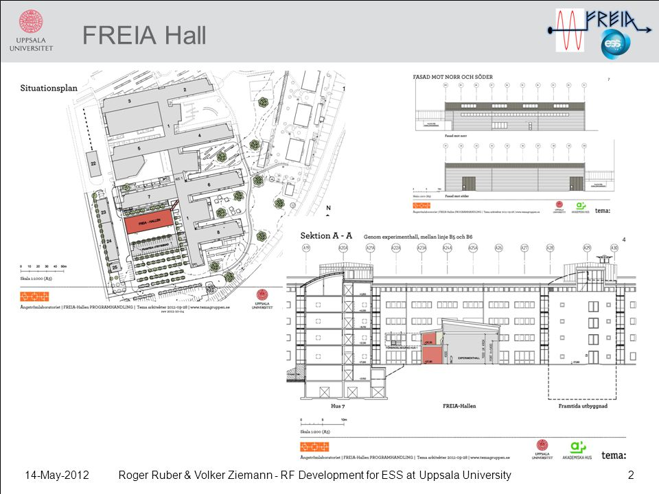 FREIA Hall 14-May-2012 Roger Ruber & Volker Ziemann - RF Development for ESS at Uppsala University