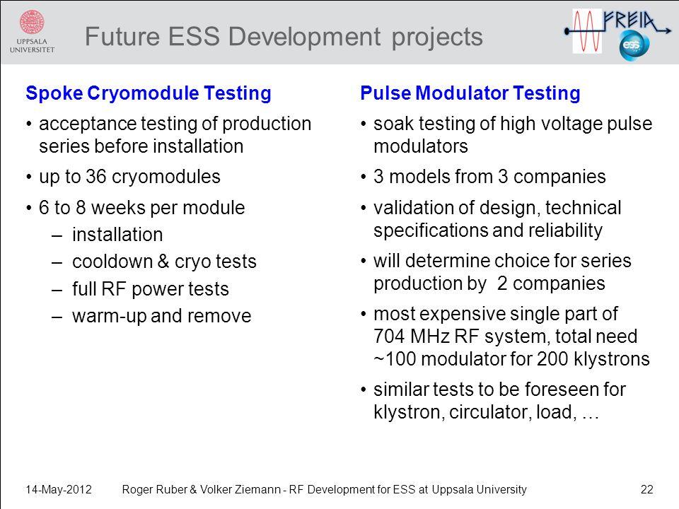 Future ESS Development projects
