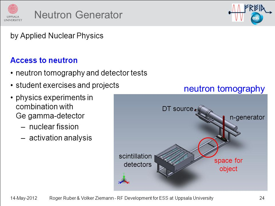 Neutron Generator neutron tomography by Applied Nuclear Physics