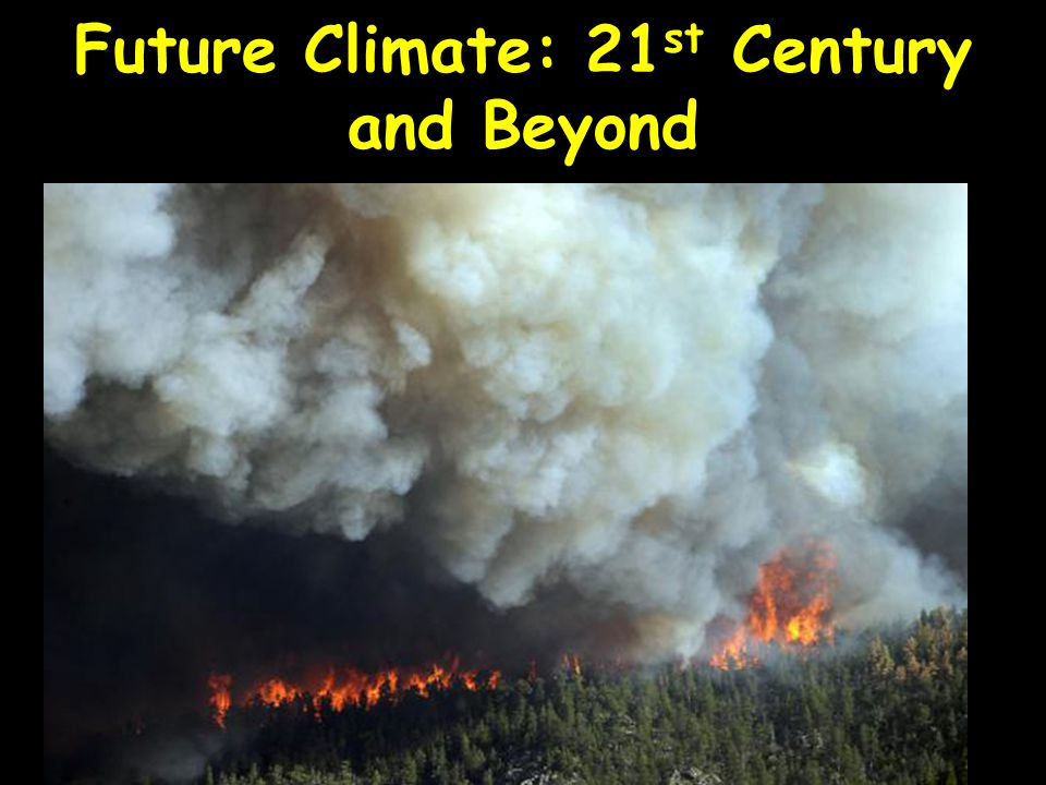 Future Climate: 21st Century and Beyond