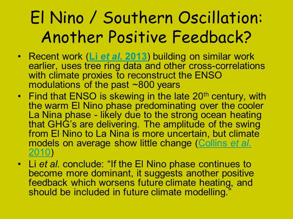 El Nino / Southern Oscillation: Another Positive Feedback