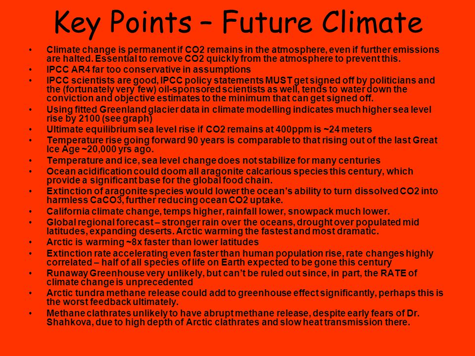 Key Points – Future Climate