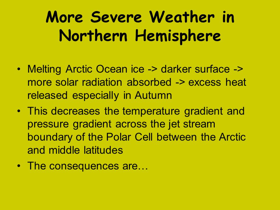 More Severe Weather in Northern Hemisphere