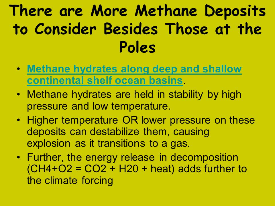 There are More Methane Deposits to Consider Besides Those at the Poles