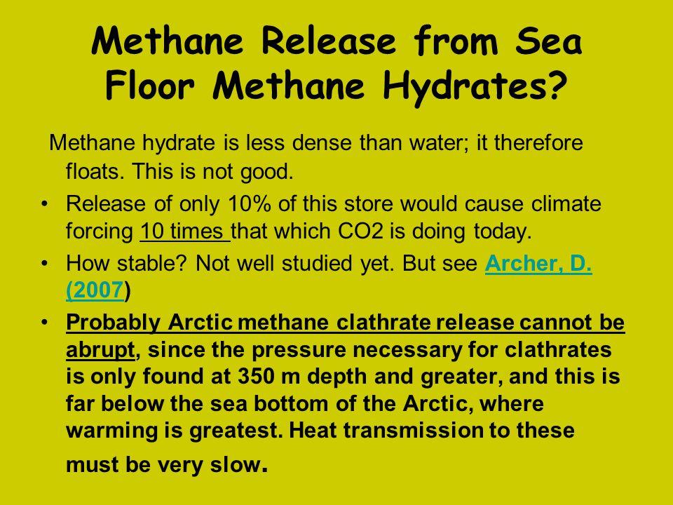Methane Release from Sea Floor Methane Hydrates