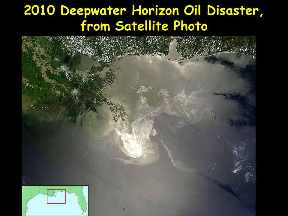 2010 Deepwater Horizon Oil Disaster, from Satellite Photo