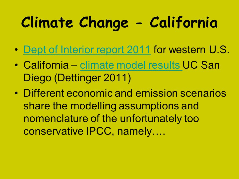Climate Change - California