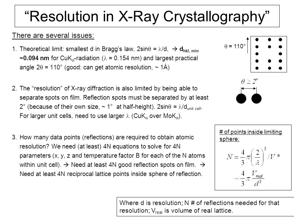 Resolution in X-Ray Crystallography