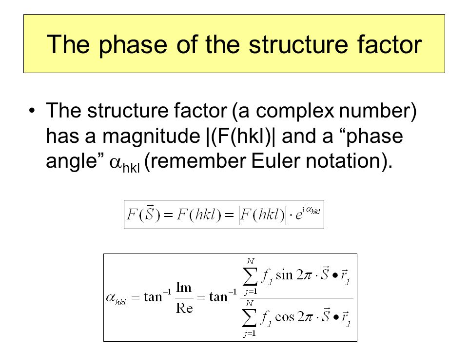 The phase of the structure factor