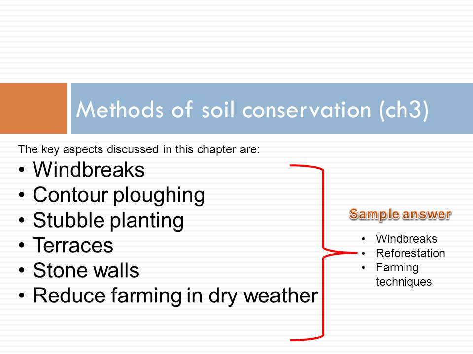 Methods of soil conservation (ch3)