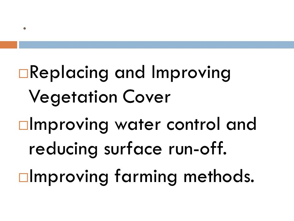 Replacing and Improving Vegetation Cover