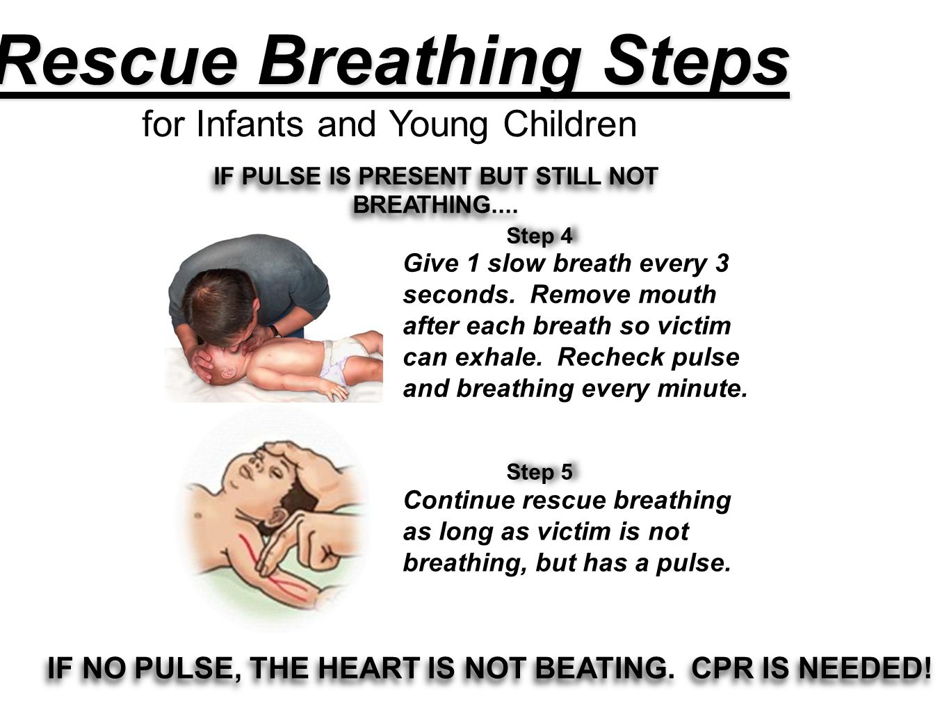 Rescue Breathing Steps