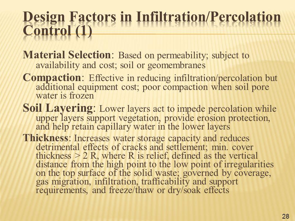 Design Factors in Infiltration/Percolation Control (1)
