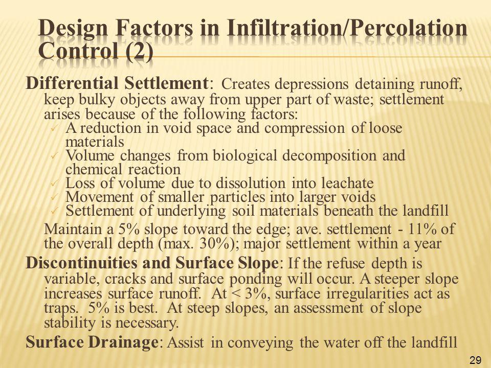 Design Factors in Infiltration/Percolation Control (2)