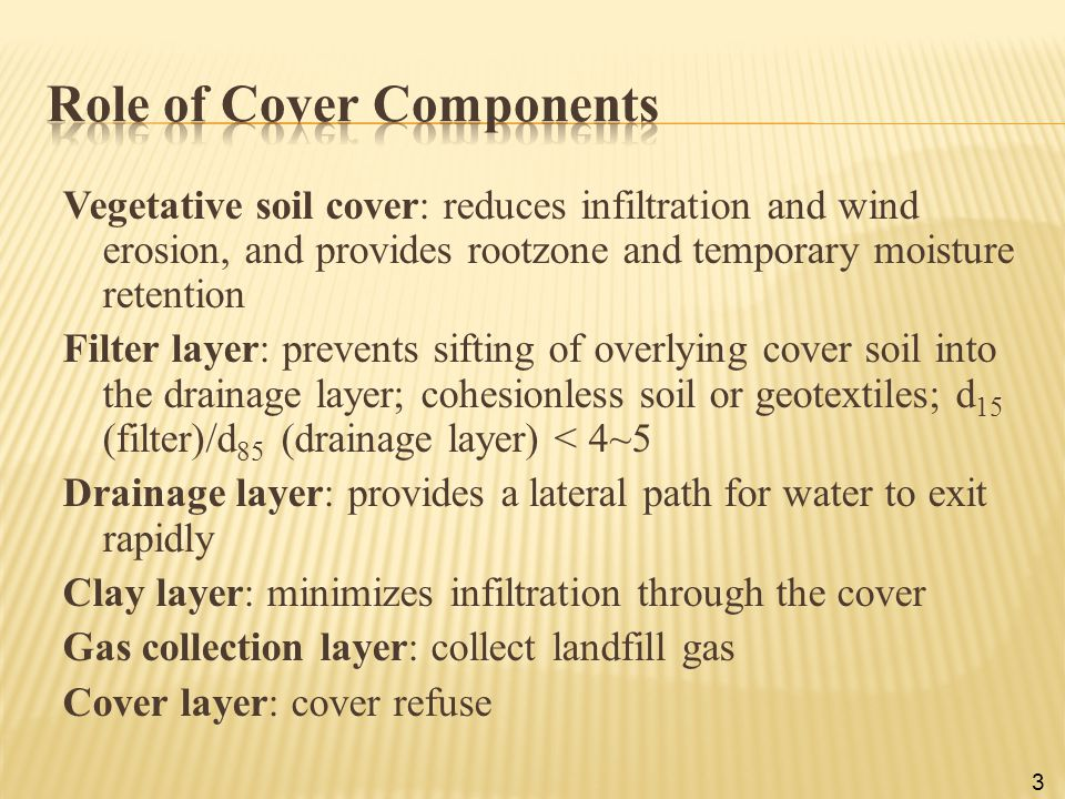 Role of Cover Components