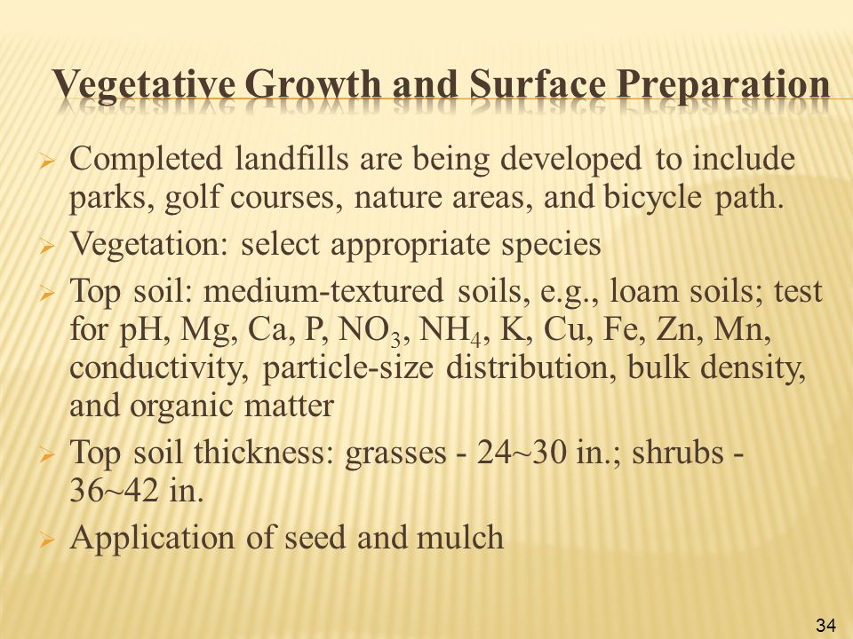 Vegetative Growth and Surface Preparation