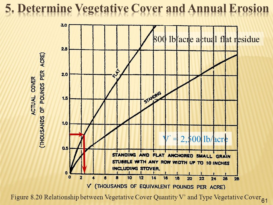 5. Determine Vegetative Cover and Annual Erosion