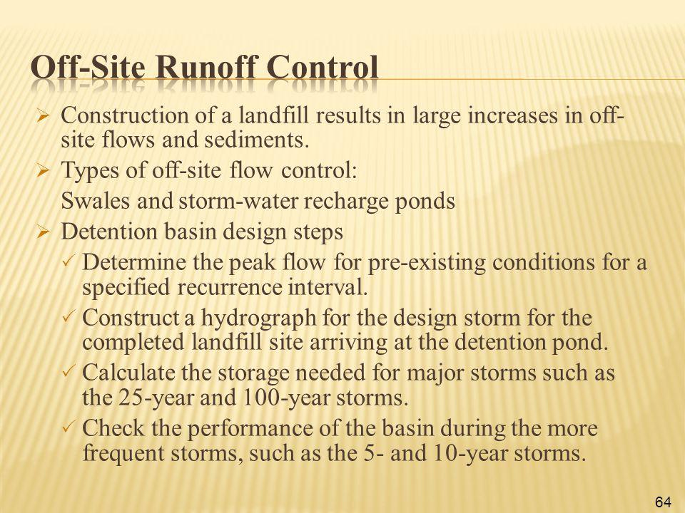 Off-Site Runoff Control