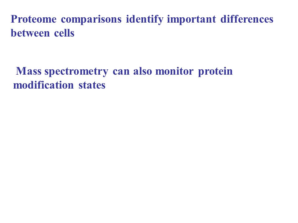 Proteome comparisons identify important differences between cells