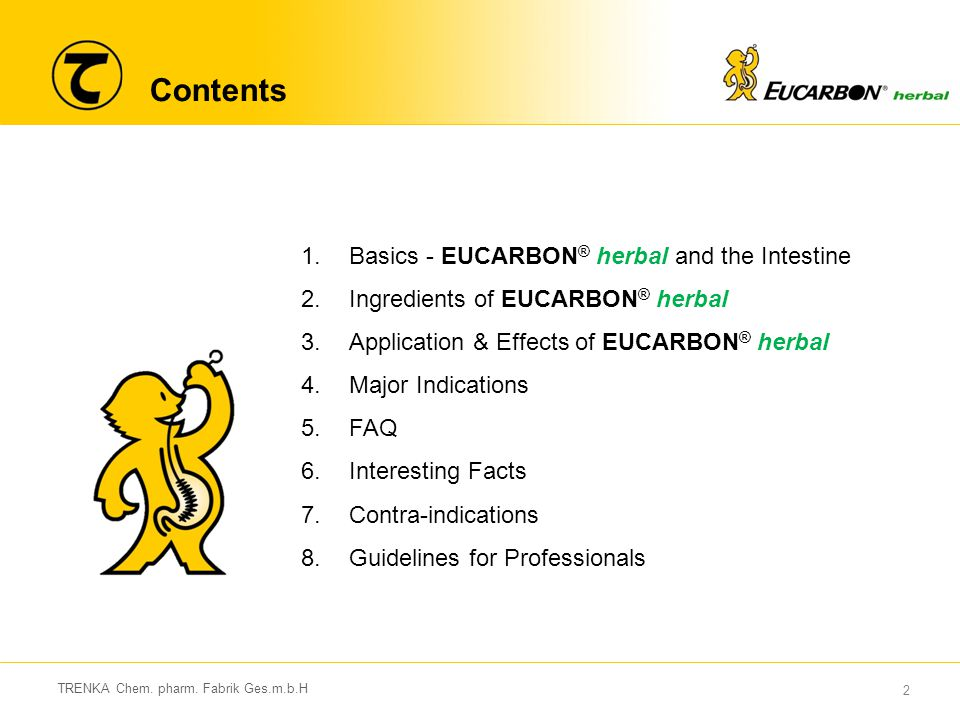 Contents Basics - EUCARBON® herbal and the Intestine