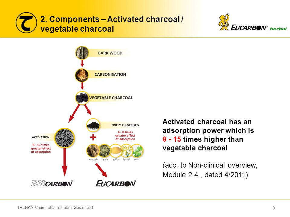 2. Components – Activated charcoal / vegetable charcoal