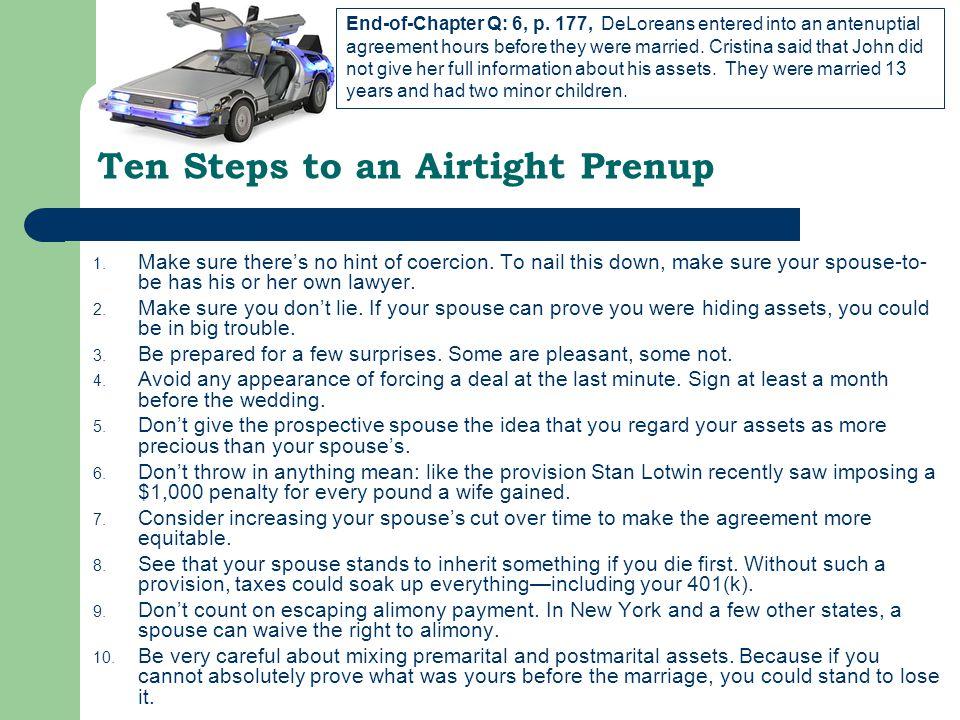 Ten Steps to an Airtight Prenup