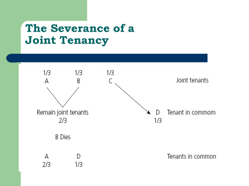 The Severance of a Joint Tenancy