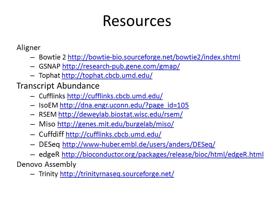 Resources Transcript Abundance Aligner